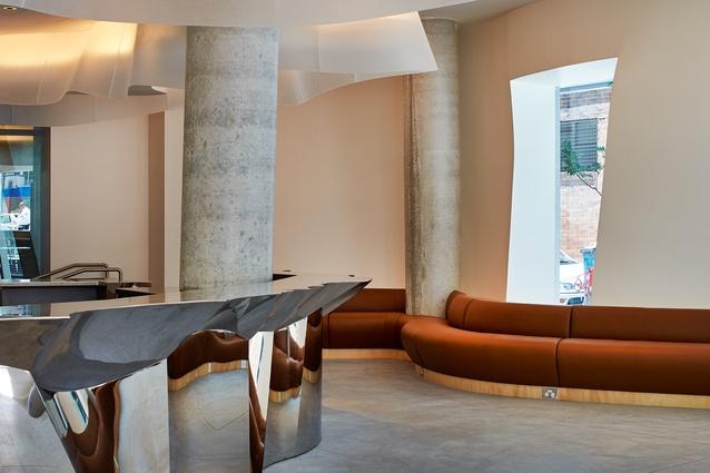 The ground floor lounge area.