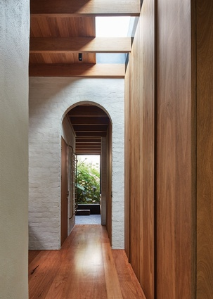 Rich timber elements were inspired by Japanese furniture.
