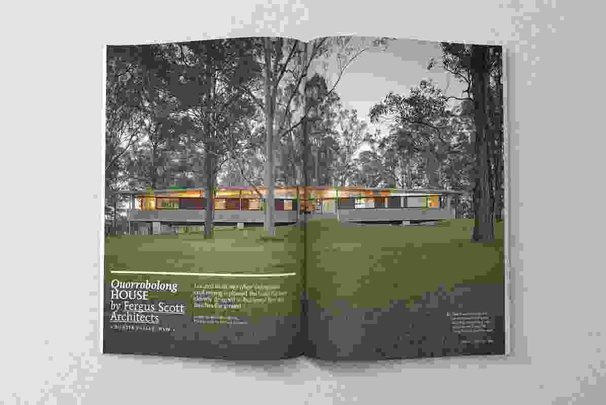 Quorrobolong House by Fergus Scott Architects.
