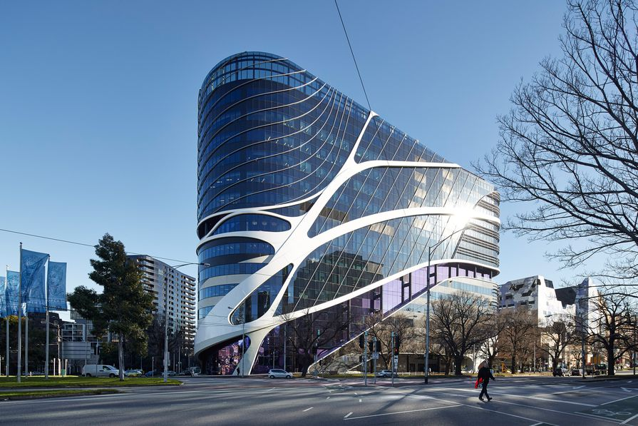 Victorian Comprehensive Cancer Centre by STHDI and MCR (Silver Thomas Hanley, DesignInc and McBride Charles Ryan).