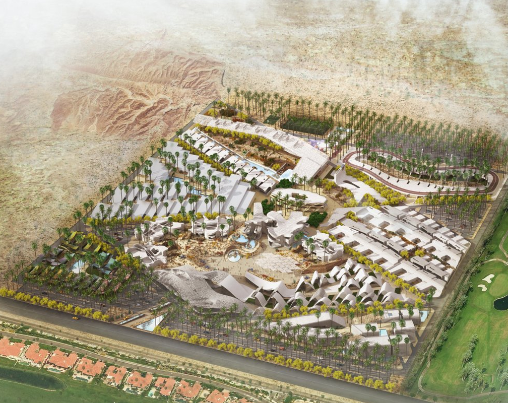 The masterplan of Boom by HWKN in Palm Springs, USA, demonstrates a variety of approaches to aged living.
