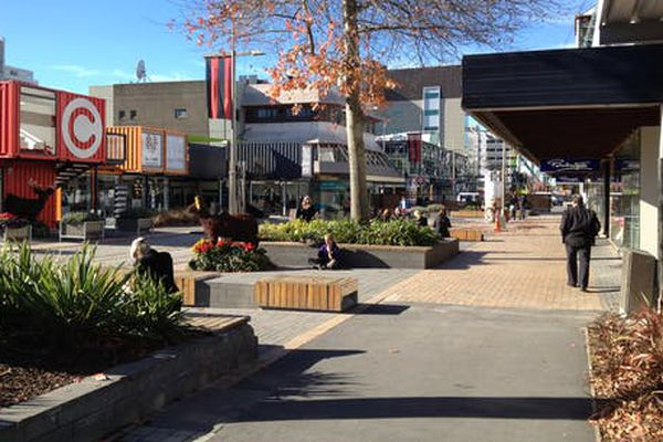 A park-like retreat space on South Colombo Street, Christchurch.