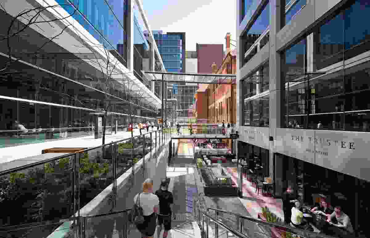 The winner of the 2015 Australia Award for Urban Design in the Delivered outcome – Large Scale category, Brookfield Place (WA) by Hassell, Fitzpatrick + Partners & Brookfield.