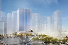 Hassell's design for penultimate tower at Perth's Elizabeth Quay revealed
