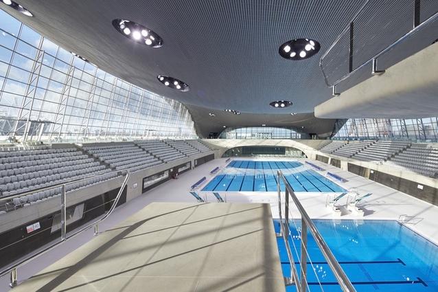 London Aquatics Centre by Zaha Hadid.