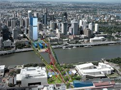 Victoria Bridge Demonstration Area, from the Draft Brisbane City Centre Masterplan.