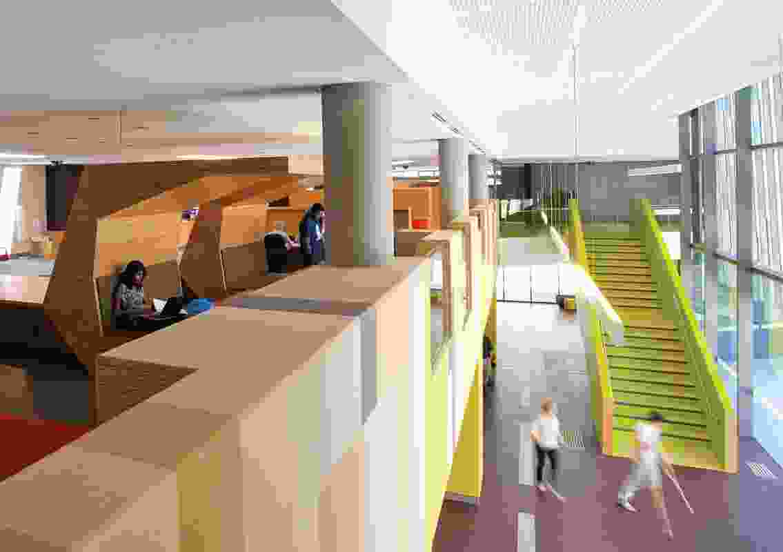 Colour in Commercial Design – Victoria University Learning Commons and Exercise Science and Sport Precinct Project by John Wardle Architects.