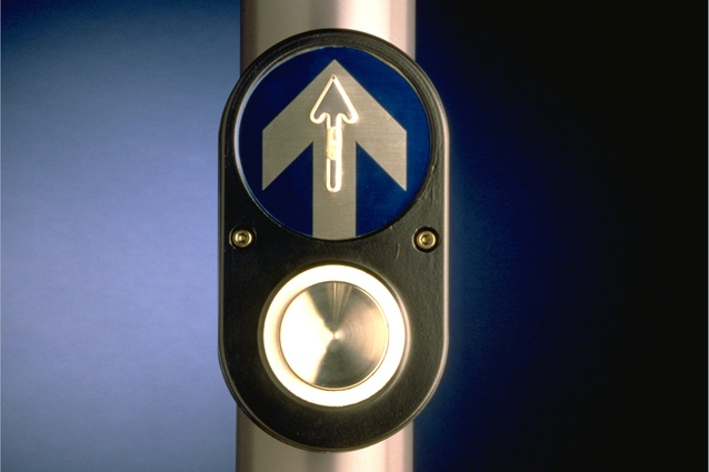 The PB/5 Pedestrian Button, designed in 1981 by Nielsen Design Associates.