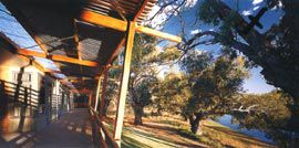 View along the patient verandah, showing the relationship between the accommodation, the verandah and the river landscape.Image: Brett Boardman