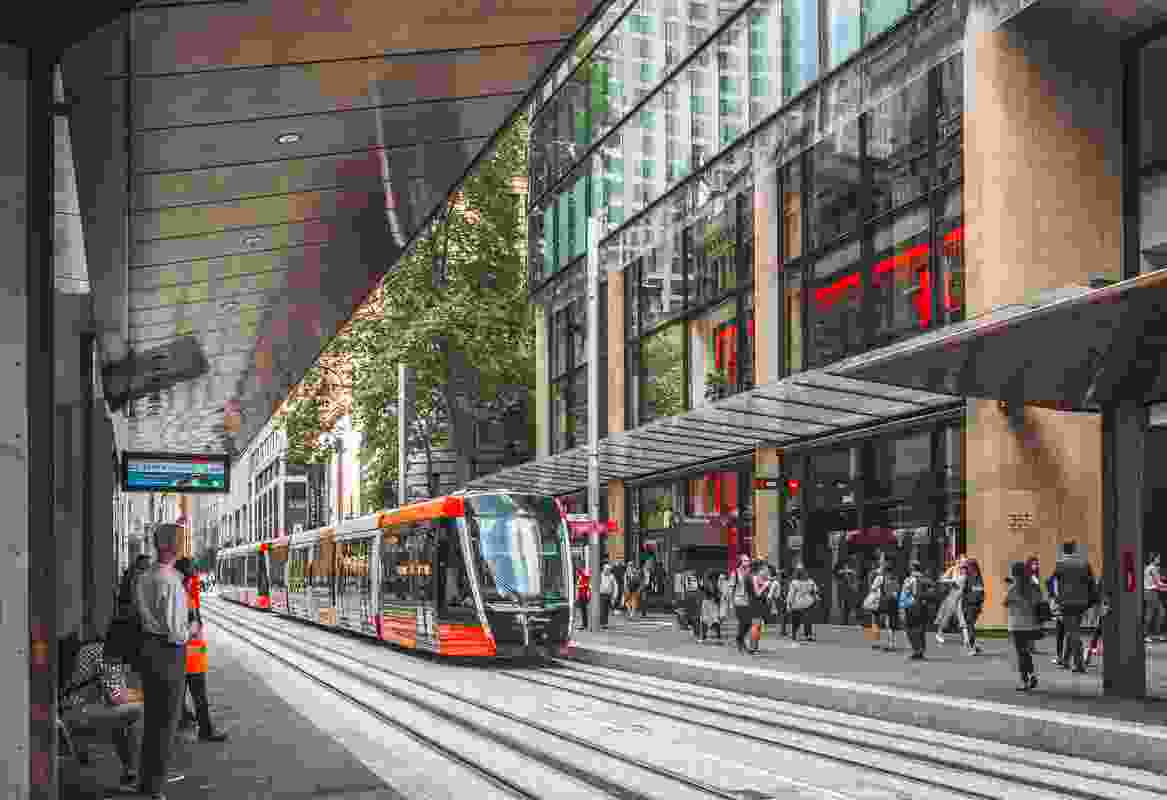 CBD South East Light Rail by Grimshaw with Aspect Studios.