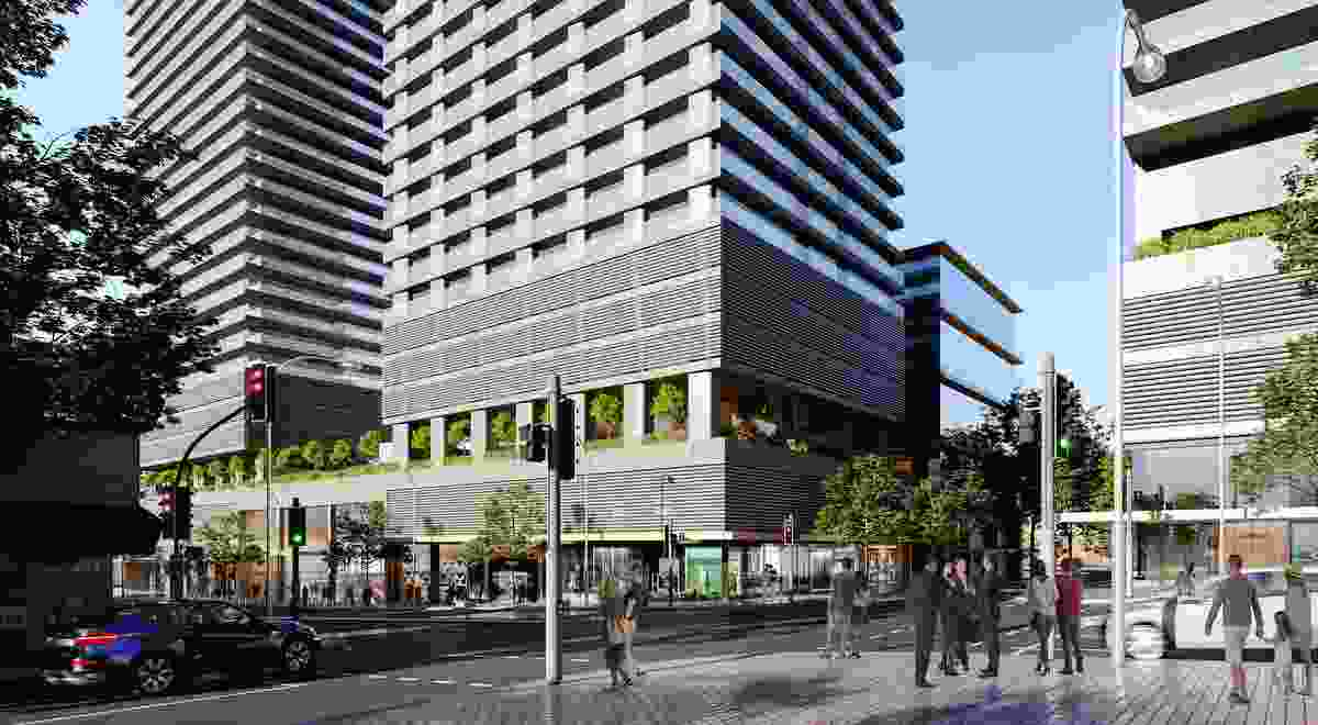 Indicative design for the Crows Nest over-station development.