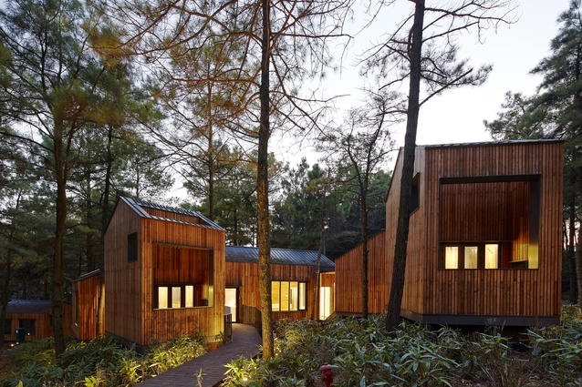 Yaxi Pine Pillow Hotel by B.A.U. Brearley Architects by Urbanists.