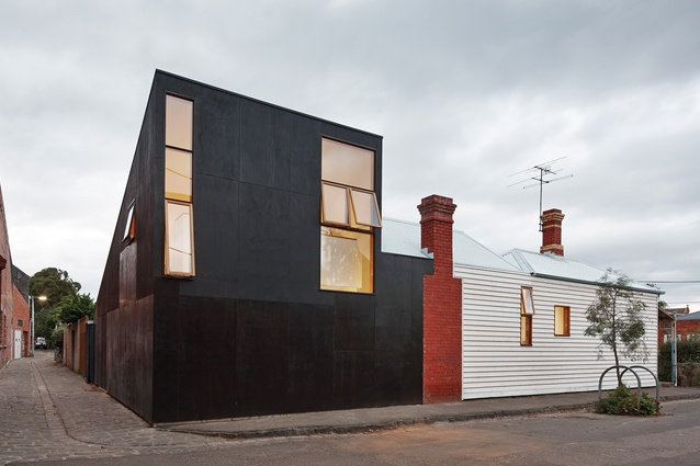 The distinctive street and laneway frontage makes an unmistakable mark on the traditionally conservative streetscape.