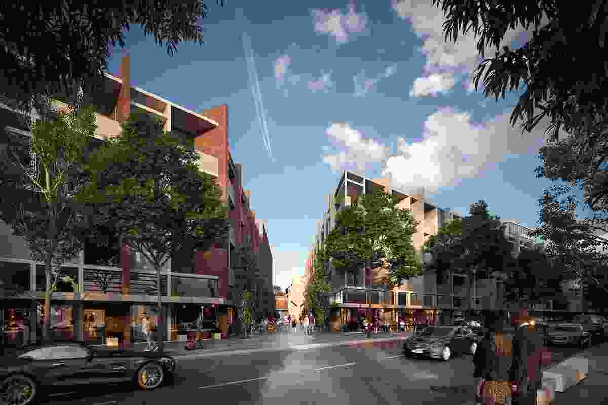The proposed new buildings in the Kingston Arts Precinct by Fender Katsalidis and Oculus will reinforce the external street alignment.