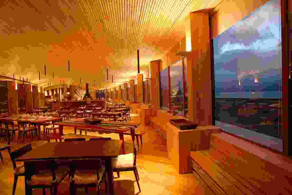 Hotel Tierra Patagonia The dining room.