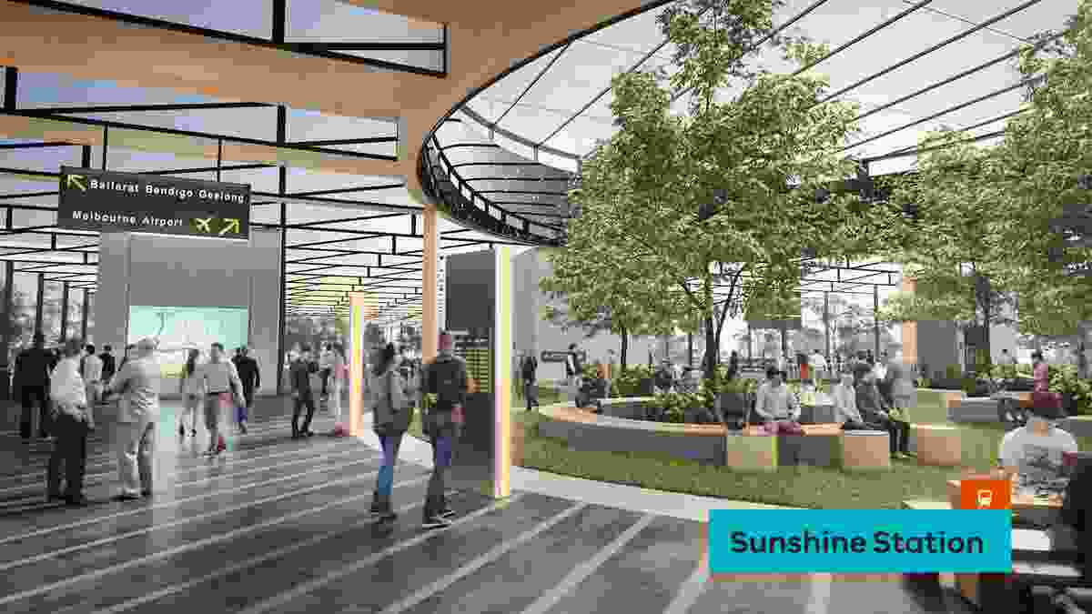 A proposed redeveloped Sunshine Station by NH Architecture.