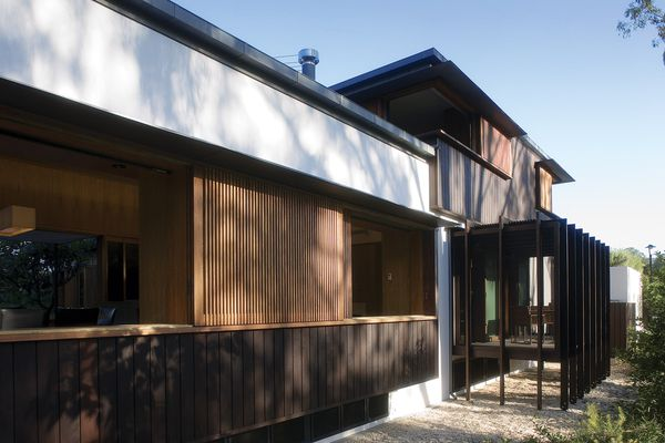 Oiled timber adds warmth and texture to the Samford House, while offering durability.