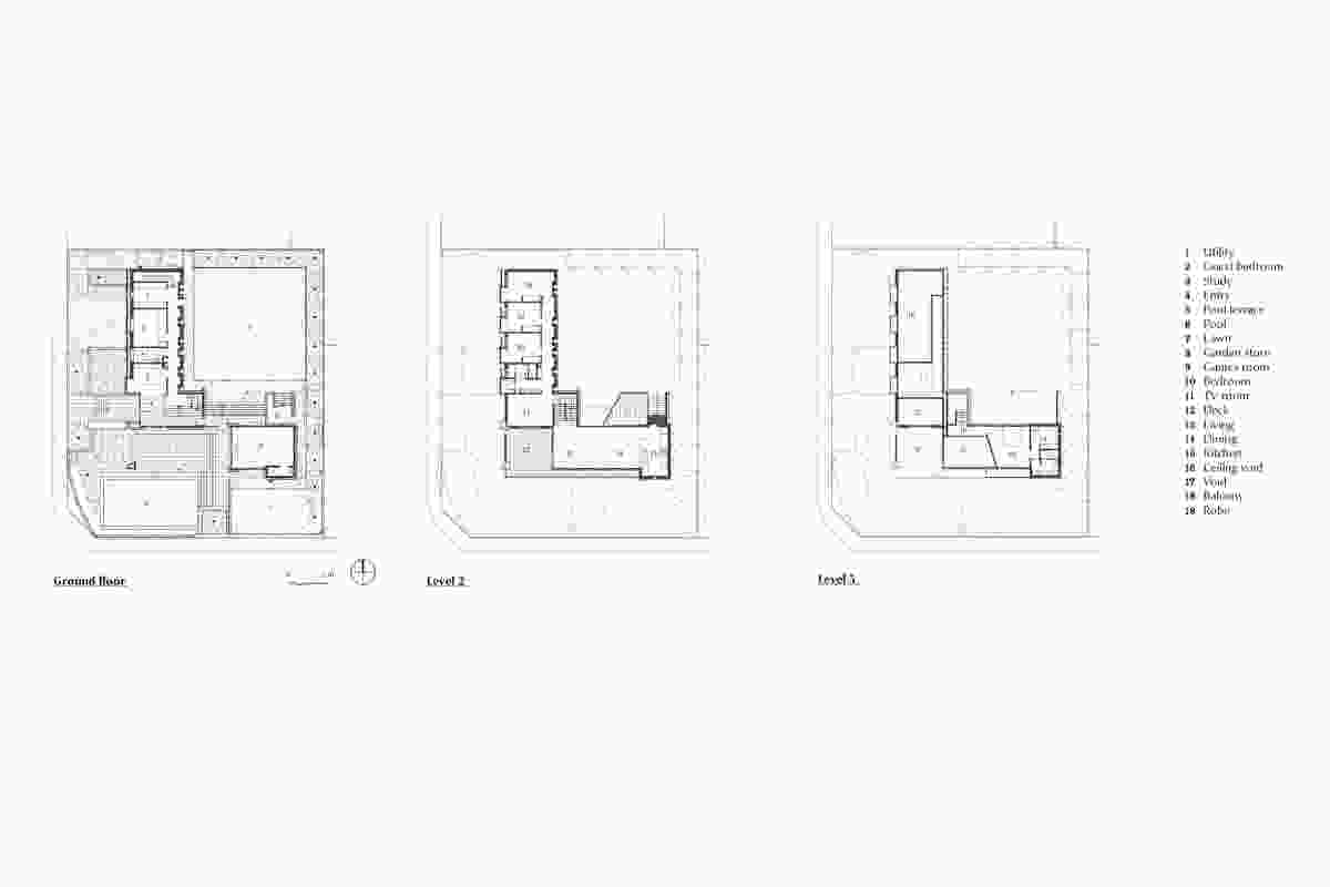 Plans of Hamilton House by M3architecture.