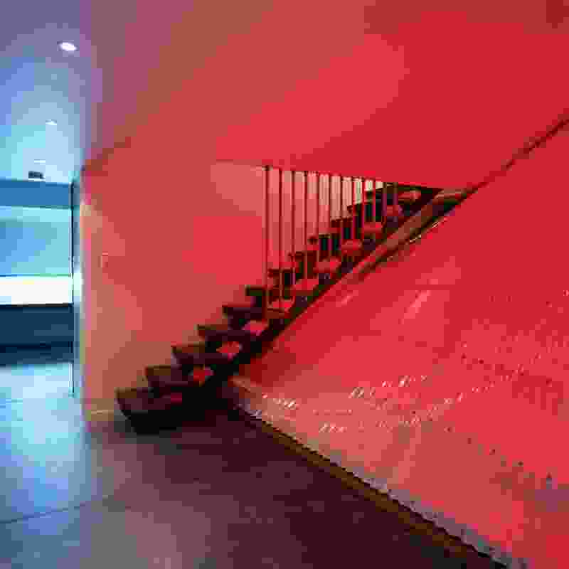 Armstrong house 2002. A red glow emanates from the undercroft under the stair.
