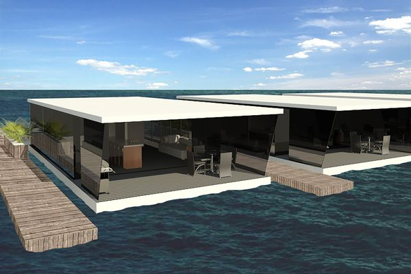 """Unlike regular houseboats, the floating """"apartments"""" are immobile, and the absence of all the requirements of a regular boat helps to keep costs down."""