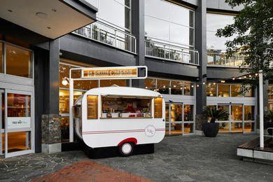 La Petite Creperie Caravan by Hot Black Design.