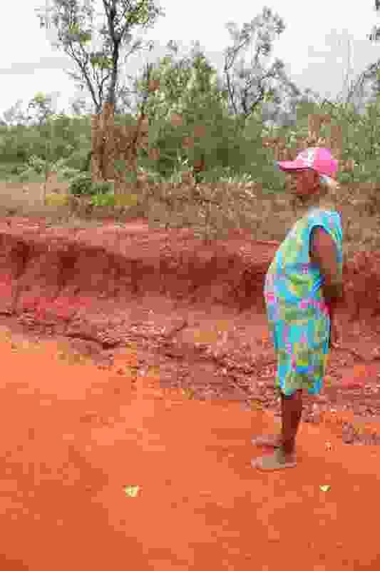 Badly eroded access track at Sabu Rock.