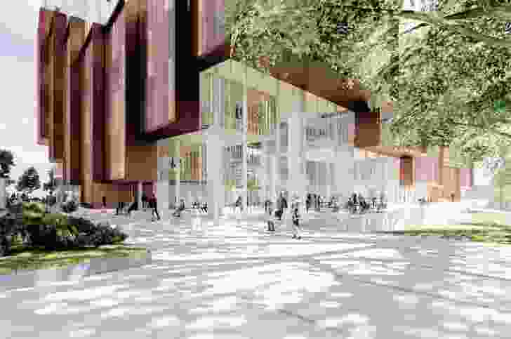 The proposed UNSW B22 by 3XN and Aspect Studios.