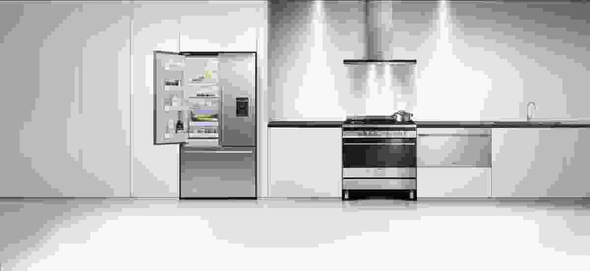 Fisher & Paykel's entire range of kitchen appliances are deliberately designed for a cohesive look.