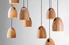 Oak pendant light