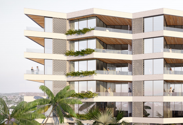 Bates Smart's winning design for apartments at Kangaroo Point in Brisbane.