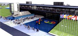 GroupGSA's winning design for the Beijing Olympic Shooting Range.