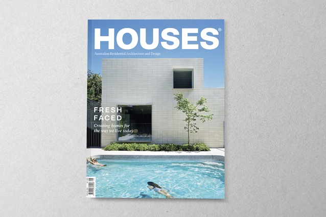 <em>Houses</em> 124. Cover project: Garden Room House by Clare Cousins Architects.
