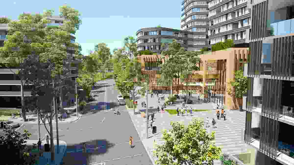 A community centre in the proposed masterplan for Telopea led by Urbis.