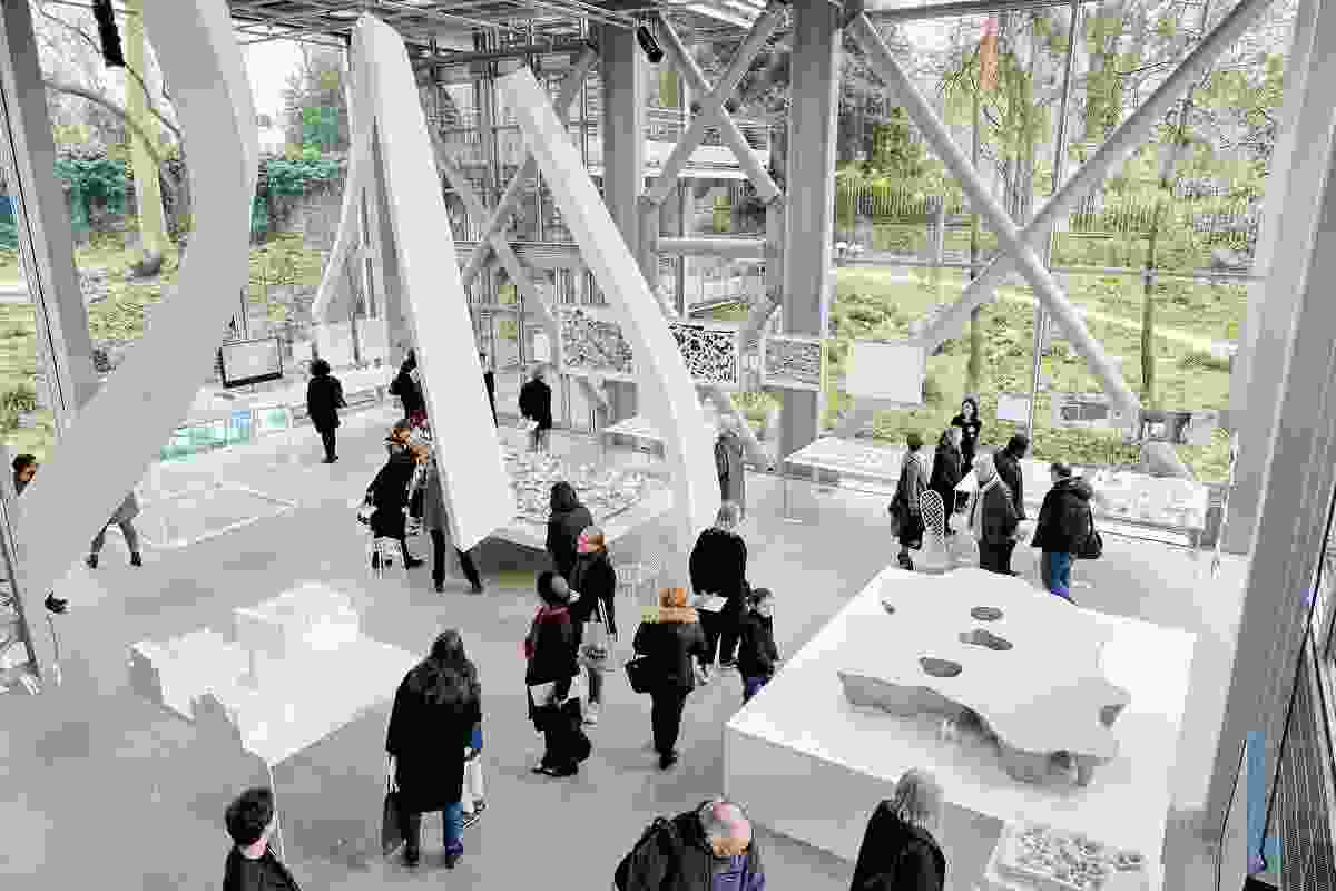 Junya Ishigami's Freeing Architecture exhibition at Fondation Cartier.