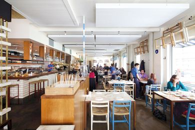 "Hellenic republic, a ""traditional taverna"" by Mills Gorman Architects."