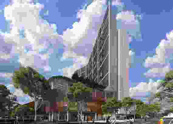 Parramatta Leagues Club Hotel by Hassell.