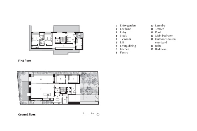 Plan of Armadale Residence by B.E Architecture.