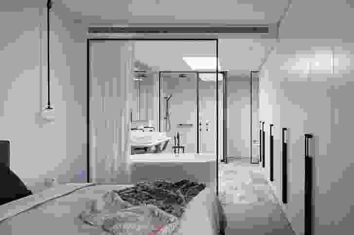 In the two-bedroom apartments, the floor area of the main bedroom, ensuite and robe is almost equal to the living area.