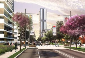 A concept image of the Waterloo Estate redevelopment.