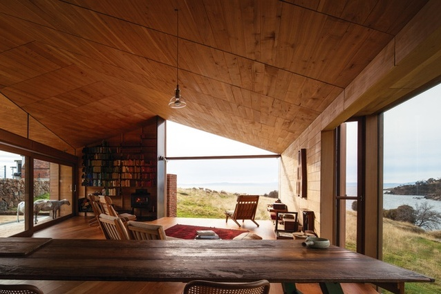 Shearer's Quarters by John Wardle Architects on Tasmania's Bruny Island uses timber as a key material.