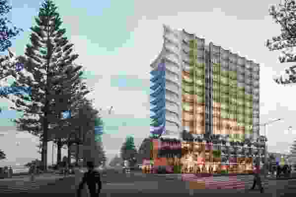 The Old Burleigh Theatre Arcade development at 64 Goodwin Terrace by Conrad Gargett.
