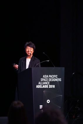 Speaker Momoyo Kaijima of Atelier Bow Wow presents at APSDA 2016.