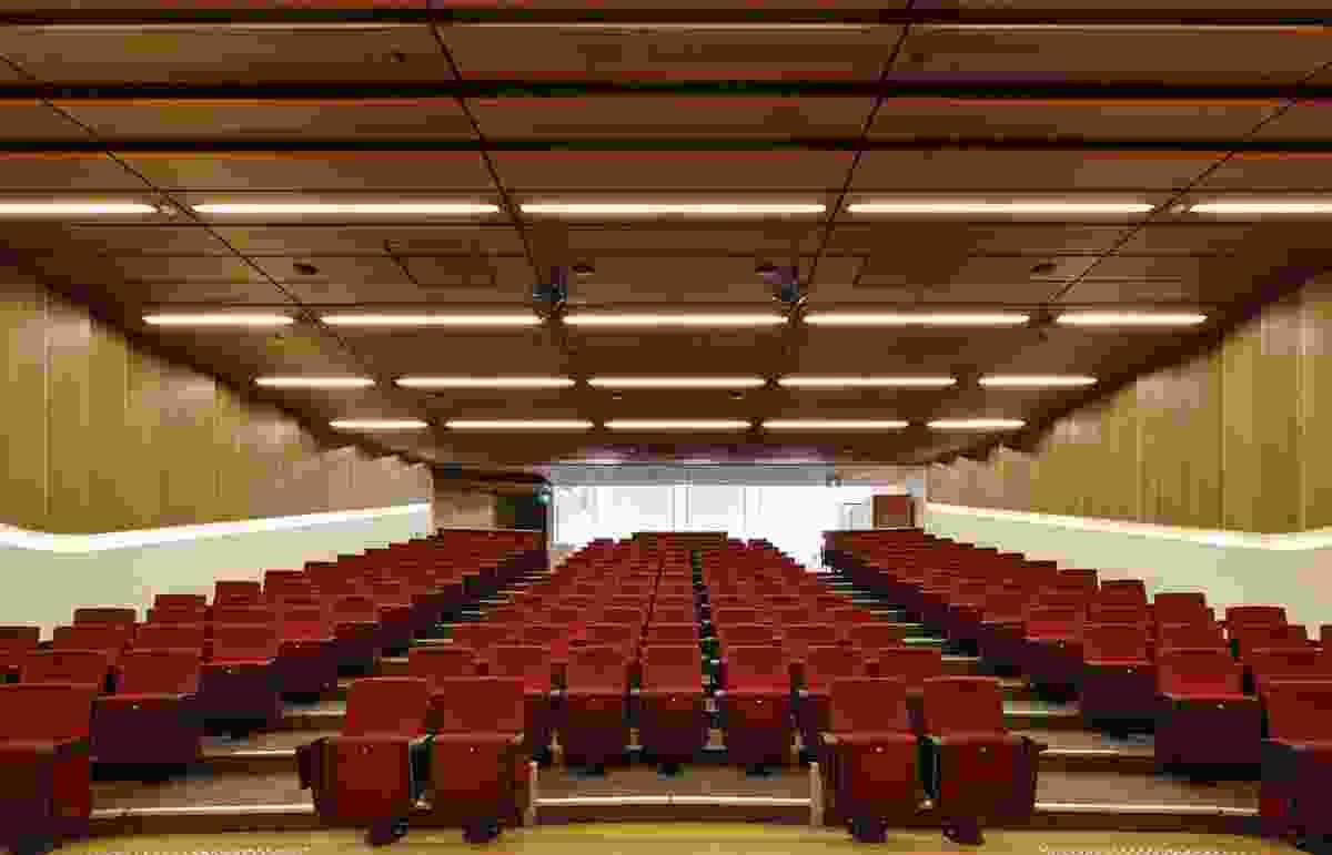 The 200-seat auditorium on the ground floor.