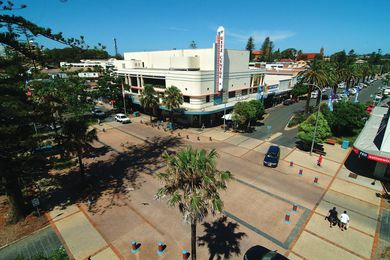 Intersection of Horton and Clarence Streets in Port Macquarie's CBD.