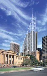 Perspective of 126 Phillip Street, Sydney, the future home of the Deutsche Bank. Foster and Partners in association with Hassell.