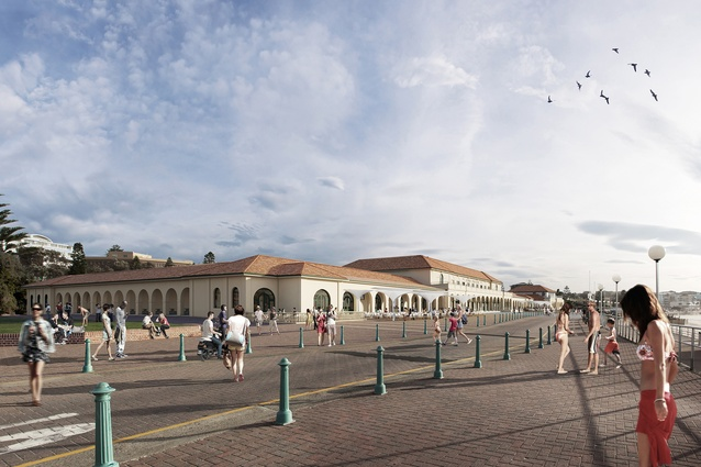 The redevelopment of Bondi Pavilion by Tonkin Zulaikha Greer will restore the symmetry of the original pavilion's beach-side facade.