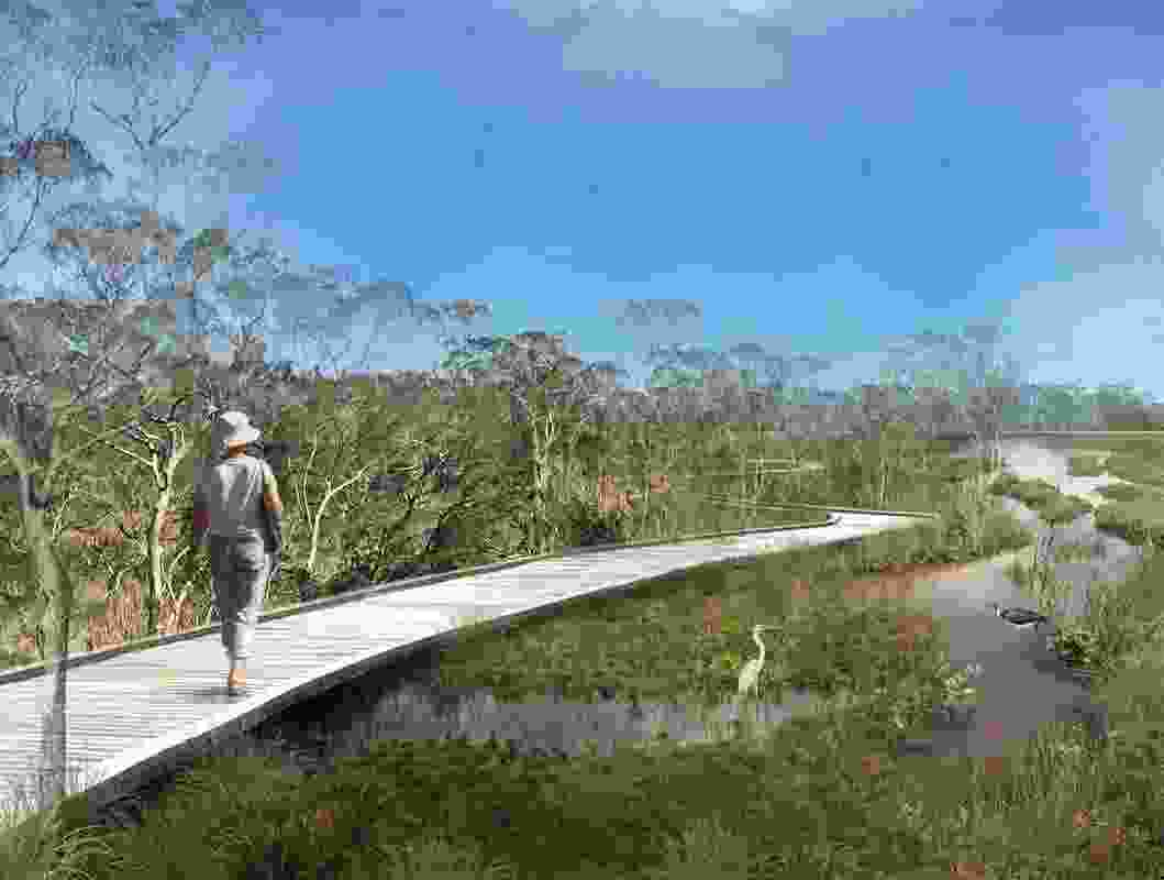 Place Design Group's Archerfield Wetlands precinct plan.