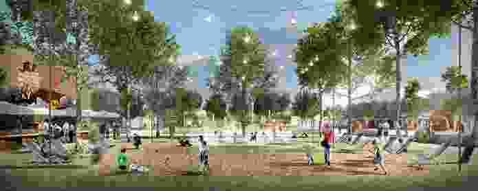 K2K proposal – Kensington Village Plaza by Aspect Studios Urban Design and Landscape Architecture, SJB Architects and Urban Design, Terroir Architecture and Urban Planning and SGS Economics and Planning.
