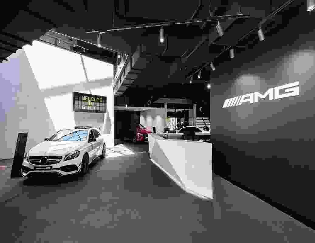 AMG Performance Centre by Turner in collaboration with Gellink and Schwämmlein Architekten and Heller Design Studios.