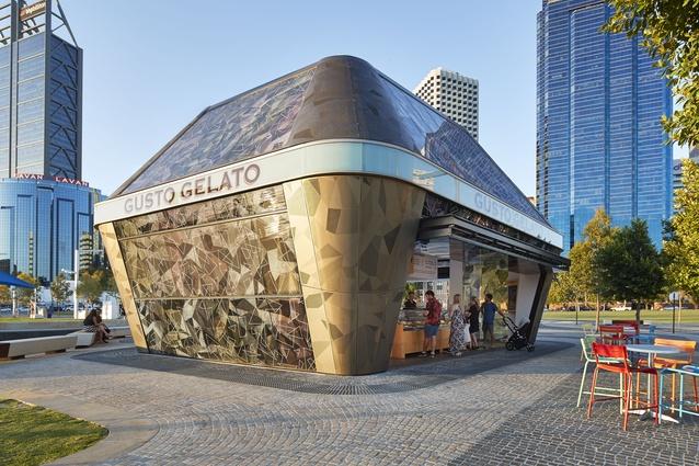 Elizabeth Quay Gelato Kiosk by iredale pedersen hook architects.